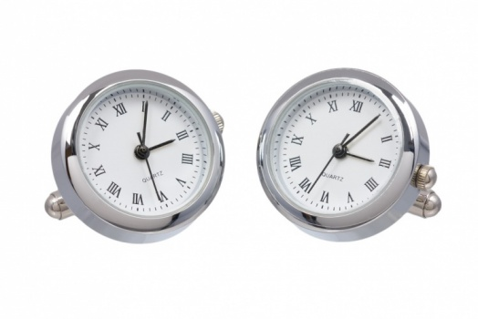 Round Chrome Working Watch Cufflinks